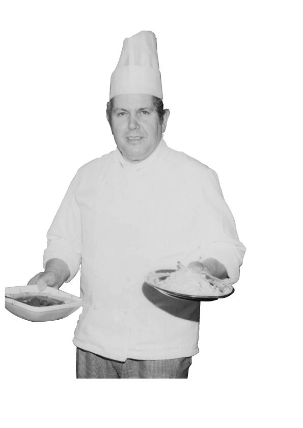 Koch mit Lebensmitteln