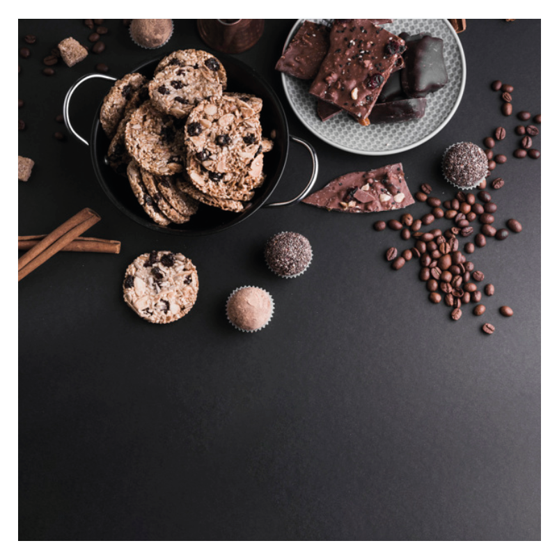 Schokolade und Kekse